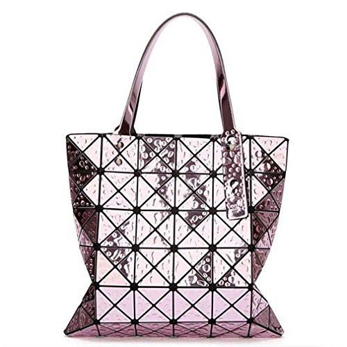 66 Newest Tote Bags Geometry Drip Style Women Geometry Bao Tote Handbag purple