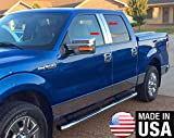 Made in USA! Fit 04-12 Ford F150 Super Cab/Crew Cab 4PC Stainless Steel Chrome Pillar Post