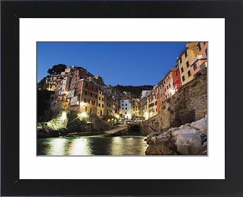 Framed Print of Clifftop village of Riomaggiore, Cinque Terre, UNESCO World Heritage Site - Clifftop Village