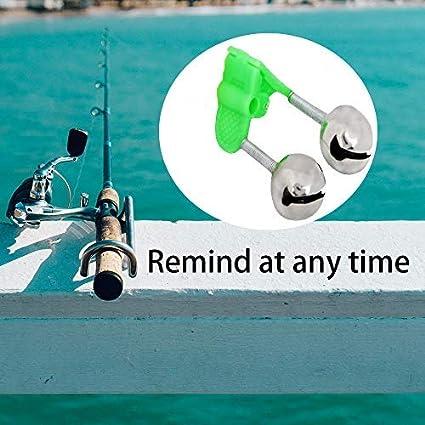 GAOYI Alarma de Pesca Twin Bells Alarma de mordedura de ...