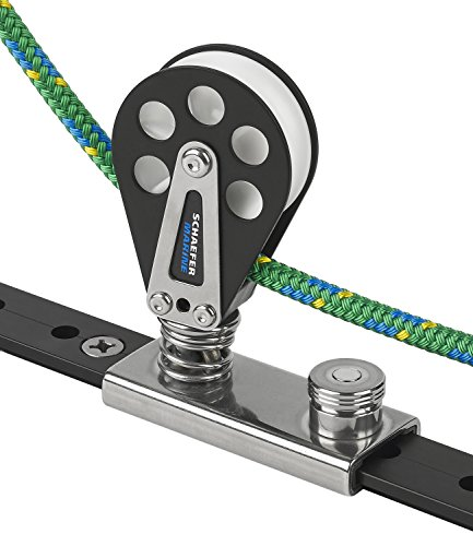 Schaefer 7 Series Single Block on 1-1/4-Inch (32mm) T-Track Slider and Aluminum Cheeks with Delrin Plain Bearing ()