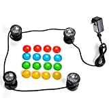 IMAGE 25W 200MA Submersible Underwatar 4 LED Multiple-color Fountain Light Kit For Outdoor Aquarium Fountain Garden Pool Party Wedding
