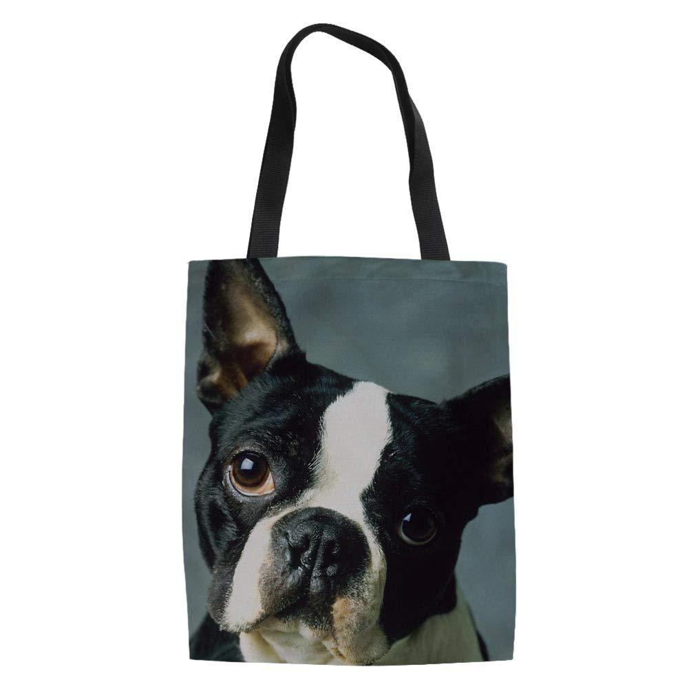 FUIBENG レディース B07P2YRW2G Boston Terrier 4