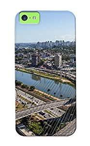 Cablestayedbridge Architecture Building Sa Case Compatible With Iphone 5c/ Hot Protection Case(best Gift Choice For Lovers) wangjiang maoyi