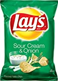 Lay's Sour Cream & Onion Flavored Potato Chips, 1.5 Ounce Bags (Pack of 64)