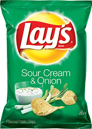 Lay's Sour Cream & Onion Flavored Potato Chips, 1.5 Ounce...