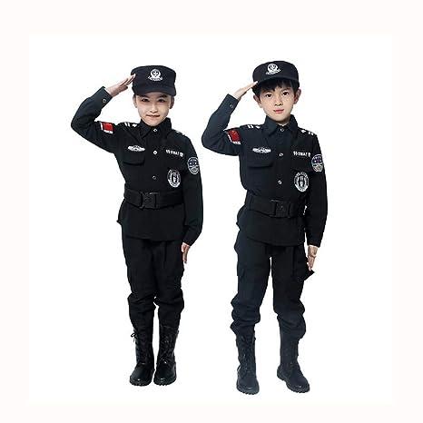 Proumhang Disfraz de niños Policía Disfraz Halloween ...