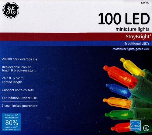 NICOLAS HOLIDAY GE90435 GE 100 Light Multi Staybright Set