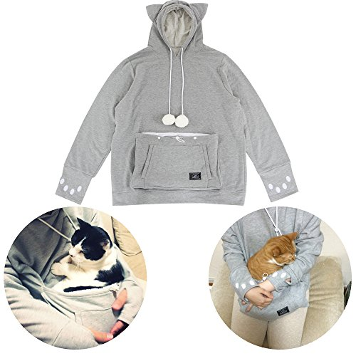 [Unihabitat Mewgaroo Hoodie, Large, Grey] (Womens Halloween Ideas)