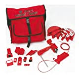 Brady Combination Lockout Satchel Kit, Includes 2 Steel Padlocks and 2 Tags