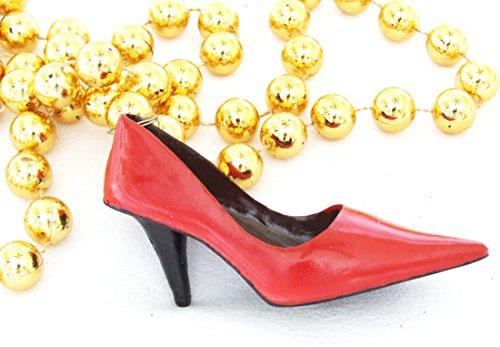 Red High Heel Shoe Mardi Gras Bead Necklace Spring Break Cajun Carnival New Orleans Shoes