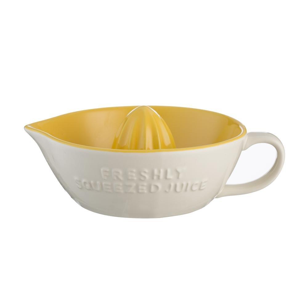 Mason Cash autoridad Chip resistente gres limó n y cí tricos exprimidor de fruta, crema/amarillo 2002.031