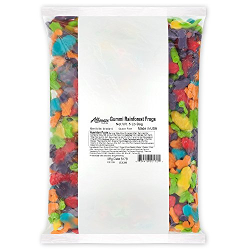 Albanese Candy, Gummi Rainforest Frogs, 5-pound Bag