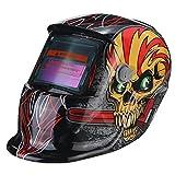 KISENG Red Skull Solar Auto Darkening Welding Helmet TIG MIG Weld Welder Lens Mask