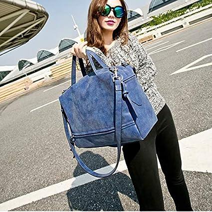 hainan New Frosted Biker Messenger Shoulder Bag Blue Sapphire one Size