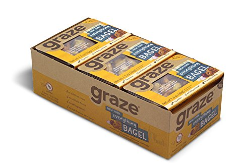 Graze Natural New York Everything Bagel Snack with Cheese Flavored Cashews, 16.32 Ounce (Pack of 9)