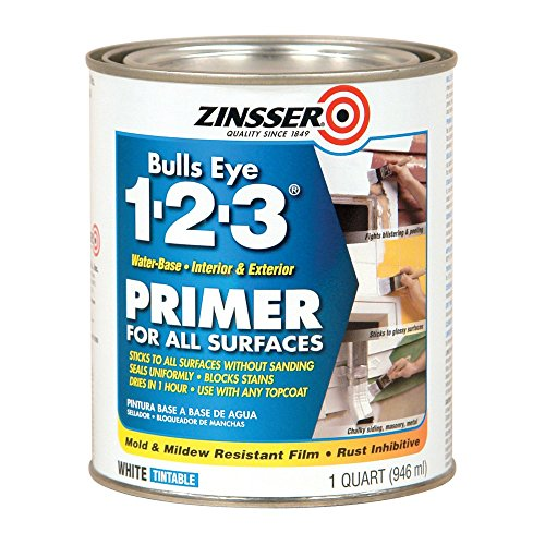 Rust-Oleum 2004 White Zinsser 02001 Bulls Eye 1-2-3 Water Based