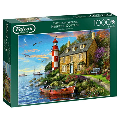 Falcon Deluxe The Lighthouse Keeper's Cottage Jigsaw Puzzle (1000 Pieces)