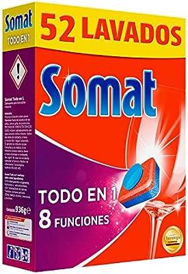Somat Todo en 1 Pastillas Lavavajillas - 52 Dosis