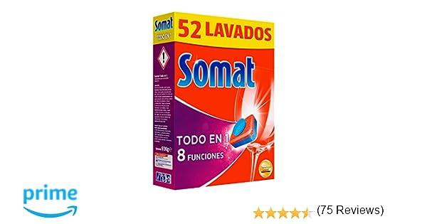Somat Todo en 1 Pastillas Lavavajillas - 52 Dosis: Amazon.es ...