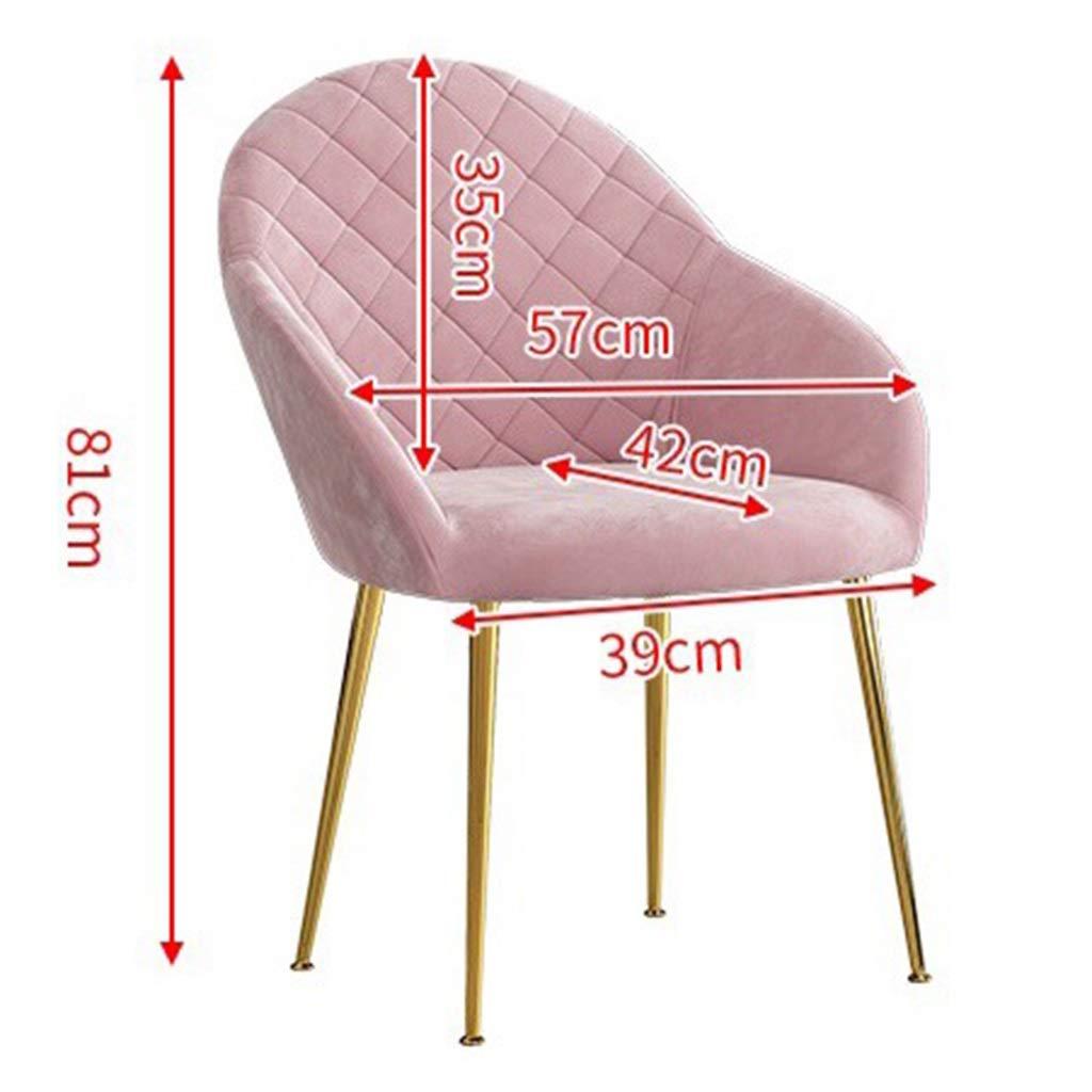 HEJINXL Set med 4 matstolar flanell fåtöljer med armstöd ryggstöd stoppat säte smidesjärn fötter (färg: A) c