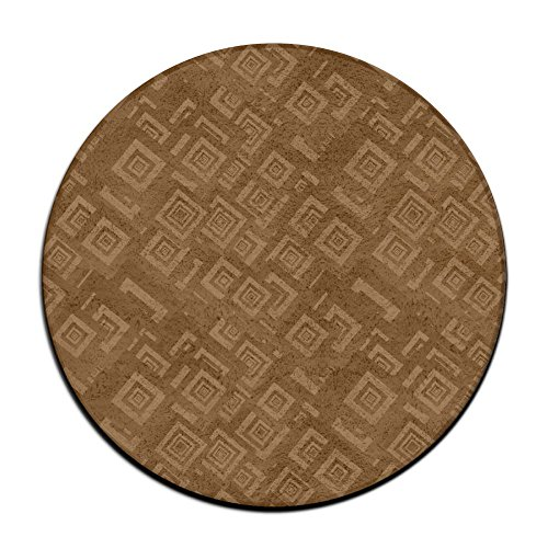Concentric Rectangle Green Rug - Brown Men Womens Classic Adjustable Welcome Doormat Runner Inserts Indoor Outdoors Natural Easy Clean Non Slip