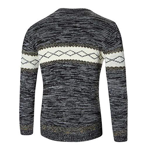 Automne Tricots Jumper Slim Taille Vêtements Col Rond Chic Mode Noir Grande Top Pull Sport Outwear Hommes Blouse shirt Tops Impression Sweat Hiver Adeshop Haut 8FtAqwxp