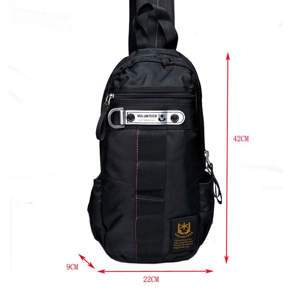 FHGJ Canvas Sling Bag Chest Backpack Crossbody Daypacks Shoulder Packs Beach Tote Bags for Men Women Hiking Cycling Walking Dog Bicycle Travel