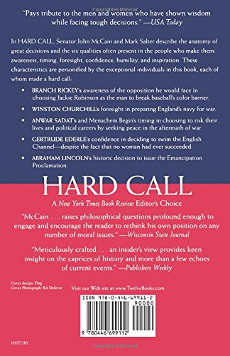 Hard call the art of great decisions john mccain mark salter hard call the art of great decisions john mccain mark salter 9780446699112 amazon books fandeluxe Images