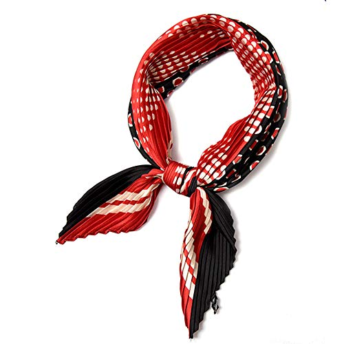 (Beautiful Pleated silk scarfs for women, 27 Colorful Choices, Fashion Bandana headband Scarf (Giselle))