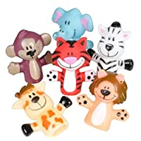 """2"""" ZOO ANIMAL FINGER PUPPETS"""