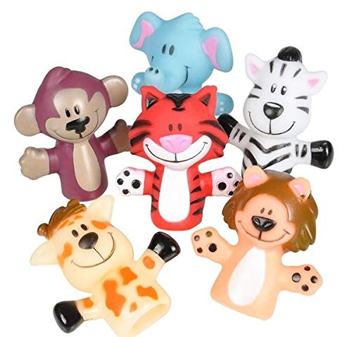 - Rhode Island Novelty Zoo Animal Finger Puppets | Set of 12