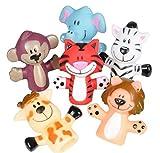 "Rhode Island Novelty 2"" Zoo Animal Finger Puppets"