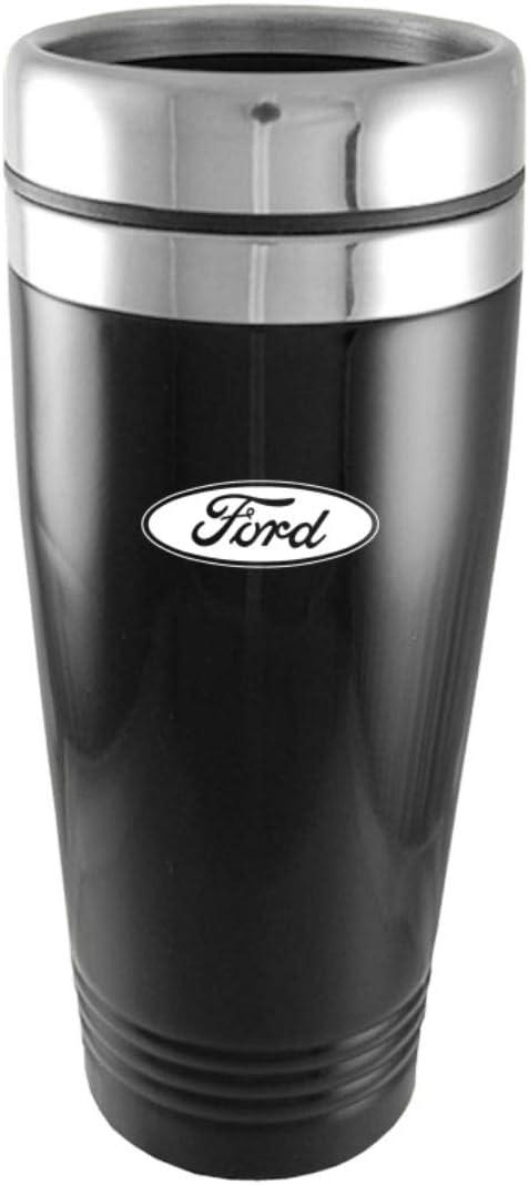 Mustang Travel Mug Travel Coffee Mug Cup Stainless Steel Tea Mug Thermo Black Auto-Gold