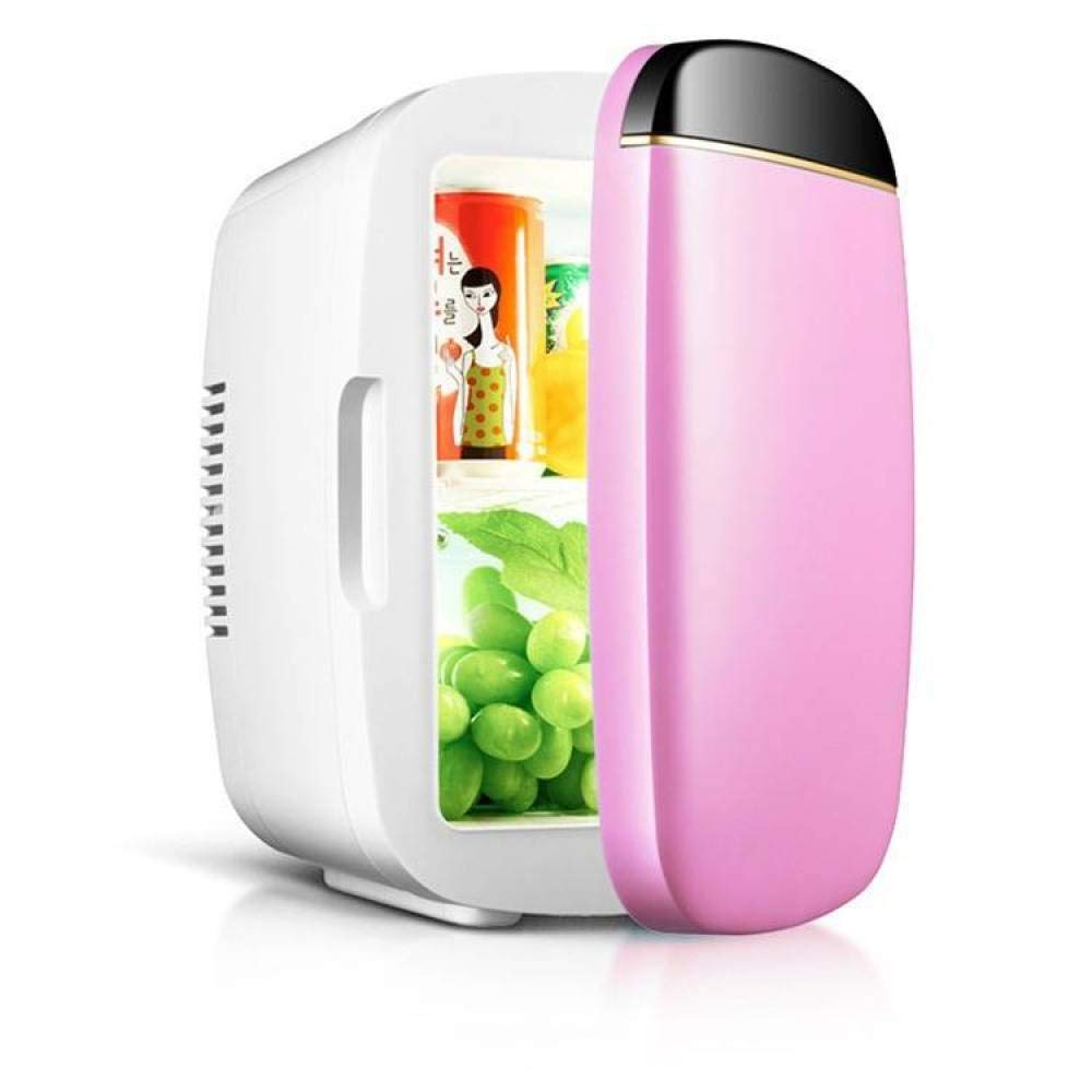 BBG 6L car Refrigerator, Mini Refrigerator, Heating and Cooling Box, car Household Portable Three-Color Small Refrigerator,Pink,One Size