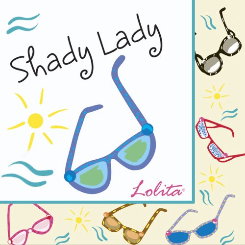 C.R. Gibson Lolita Novelty Cocktail Sized Paper Napkins, Sunglass Cooler, 20-Pack (Novelty Sunglasses Cocktail)