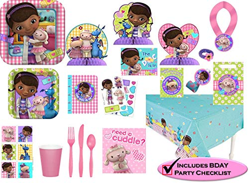 Disney Doc McStuffins Party Supplies Premium Set - Birthday Party Favors, Plates, Cups, Napkins and More!(127 Pieces)]()