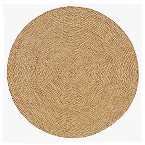 Handmade Braided round Natural Fiber Jute Rug (Pacific Natural, 6 feet (Large Sisal Rugs)