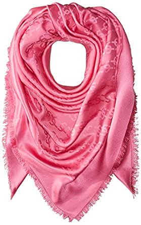 Marc Jacobs Women's Monogram Solid Monogram Logo Shawl In Bright Pink, One Size
