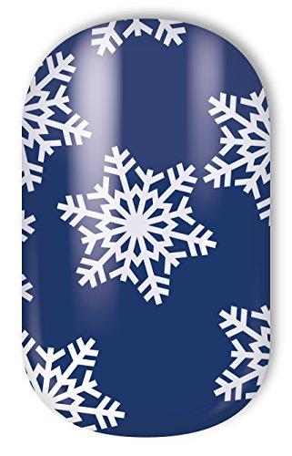 "MISS SOPHIE'S Nagelfolie -""Winter Wonderland"", Winter Schneeflocke-Blau-Weiß, 20 selbstklebende Nail Wraps"