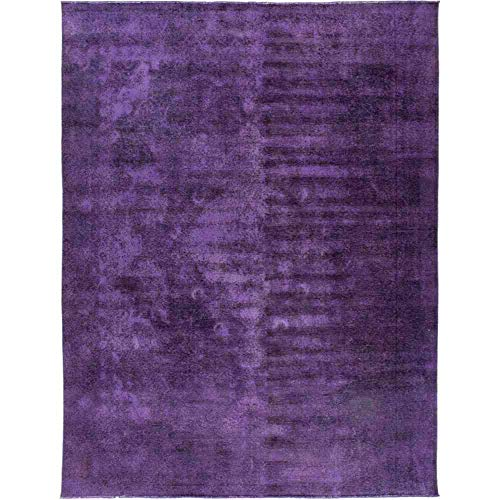 (Solo Rugs Vintage Hand Knotted Area Rug, 9' 4