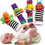 Foot Finders & Wrist Rattles for Infants Developmental Texture Toys for Babies & Infant Toy Socks & Baby Wrist Rattle - Newborn Toys for Baby Girls & Boys. Baby Boy Girl Toys 0-3 3-6 & 6 to 12 Months: more info