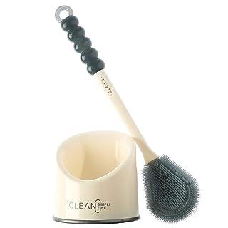 CAOFUBING Cepillo y Soporte para Inodoro Diseño Moderno Mejorado Cerdas duraderas sin cobertizo y Mango Resistente Largo Cepillo para Inodoro para baño -3366 (Color : Style 5)