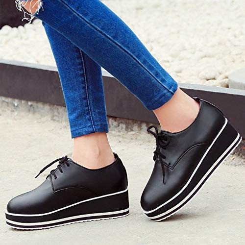 Lydee nero Up 2 Casual Sneaker Scarpe Lace Donne Flatform r08qra