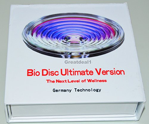 Bio Disc Ultimate Version Negative Ion Scalar Natural Health Energy Field Glass - solution to counteract the harmful effects of radiation emanating from EMF-1500 Negative Ion Blue Silicone Protector by GD (Image #2)