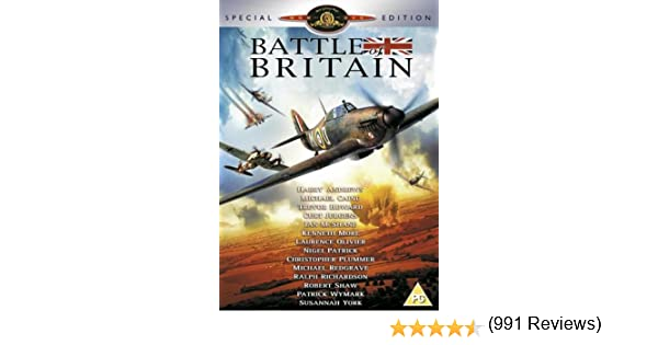 Battle of Britain [Reino Unido] [DVD]: Amazon.es: Harry Andrews, Michael Caine, Trevor Howard, Curd Jürgens, Ian McShane, Kenneth More, Laurence Olivier, Nigel Patrick, Christopher Plummer, Michael Redgrave, Ralph Richardson, Robert Shaw, Patrick