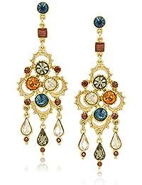 Arabian Nights Swarovski Crystal Chandelier Drop Earrings