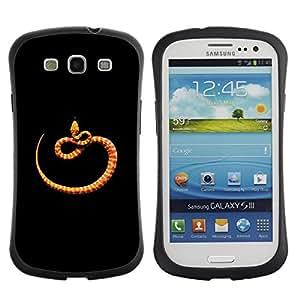 Suave TPU GEL Carcasa Funda Silicona Blando Estuche Caso de protección (para) Samsung Galaxy S3 I9300 / CECELL Phone case / / orange black minimalist snake nature /