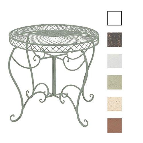 CLP Eisentisch Sheela im Jugendstil I Gartentisch mit geschwungenen Beinen und kunstvollen Verzierungen I erhältlich Antik Grün