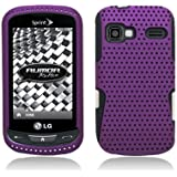 Aimo Wireless LGLM272PCPA014 Hybrid Armor Cheeze Case for LG Rumor Reflex/Freedom/Converse/Expression C395 - Retail Packaging - Purple